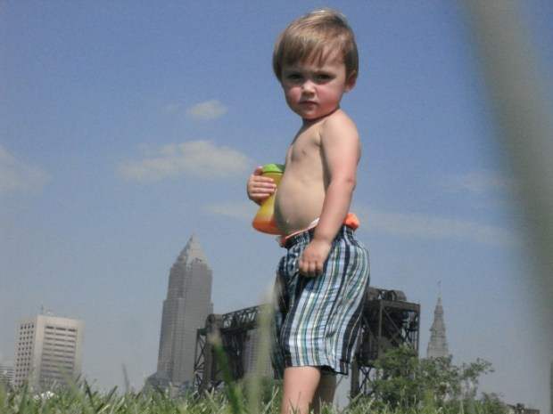 Abraham & the Cleveland Skyline (Not to Scale)