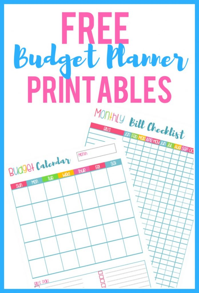 Free Budget Planner Printables - Organization Obsessed