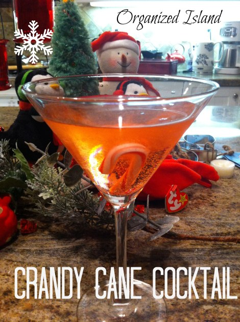 Crandy Cane Cocktail, holiday beverages
