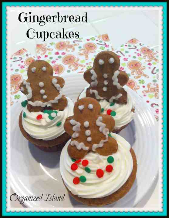 Gingerbread Cupcakes - Organized Island