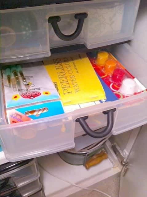 storing supplies