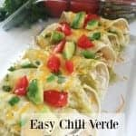 Easy Chili Verde Enchiladas