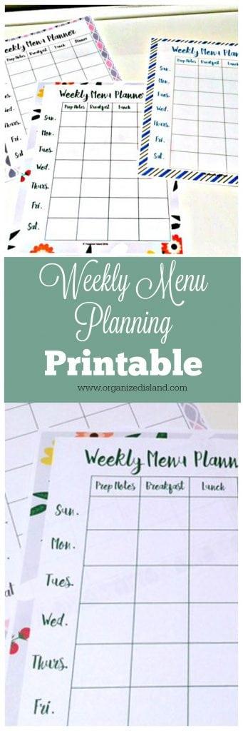 Menu Planning Template - - menu planning template