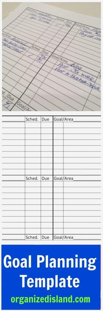 Goal Setting Planner Template -