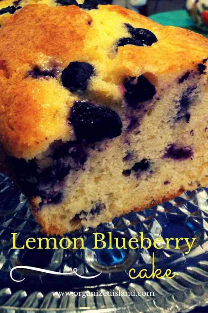 Lemon Bluebery Cake Recipe - made with only 5 ingredients! A tasty treat for brunch or snack.