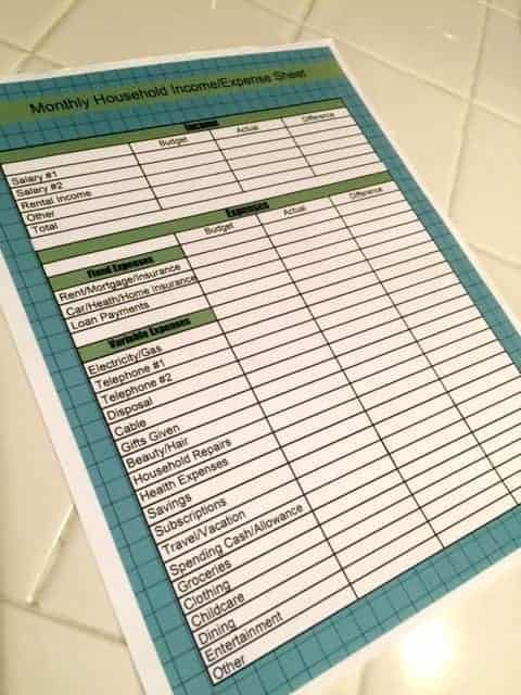 Planning A Monthly Budget -
