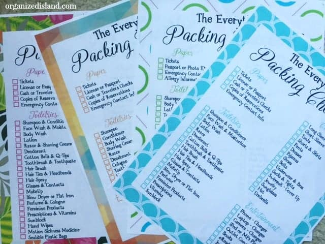 Travel Packing List Printables -