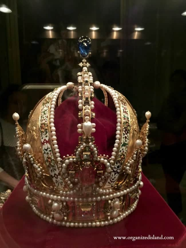 Crowns and jewels of the royal family in Vienna are on display at Hofburg Palace