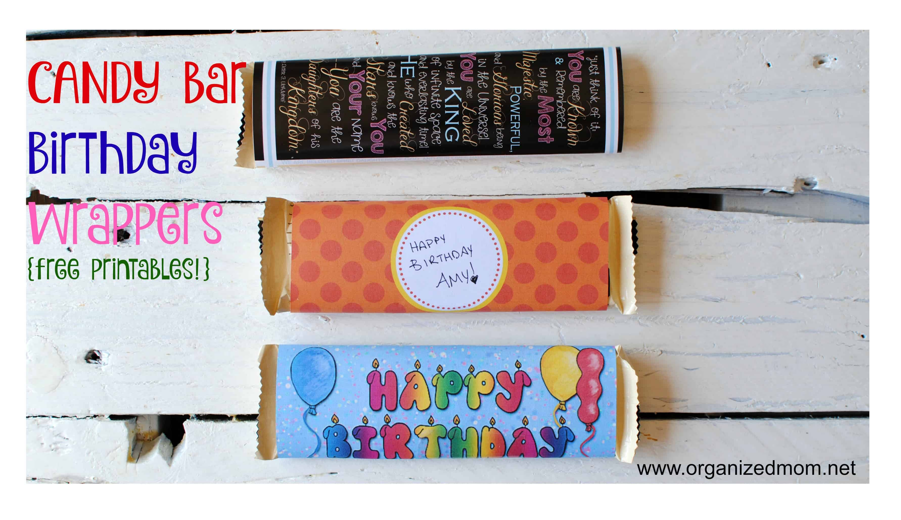 free printable candy bar wrapper