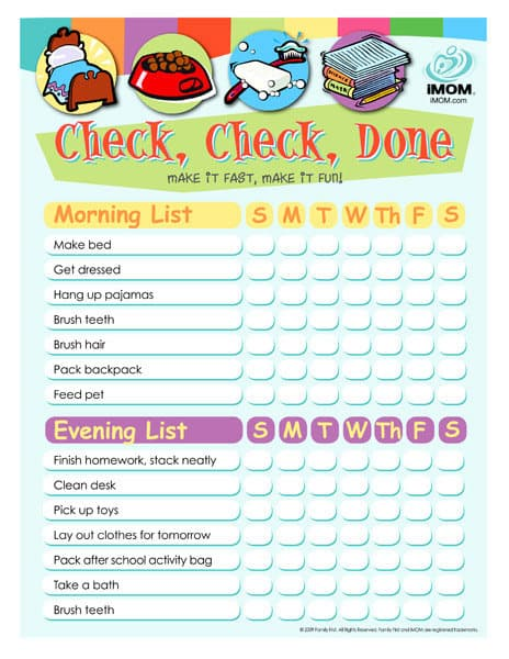10 Printable Chore Charts Your Kids Will Adore! - The Organized Mom