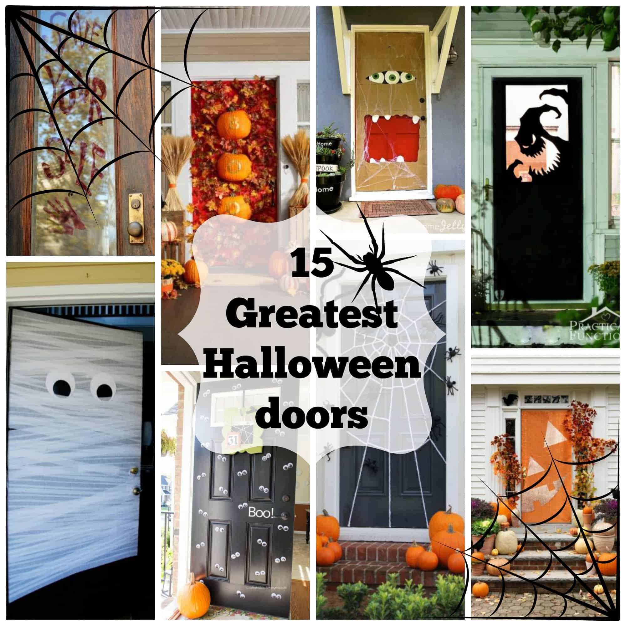 Fullsize Of Halloween Door Decorations