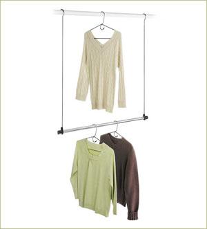 double-closet-rod-hanger