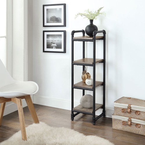 Pipe Furniture 4-Shelf Tower