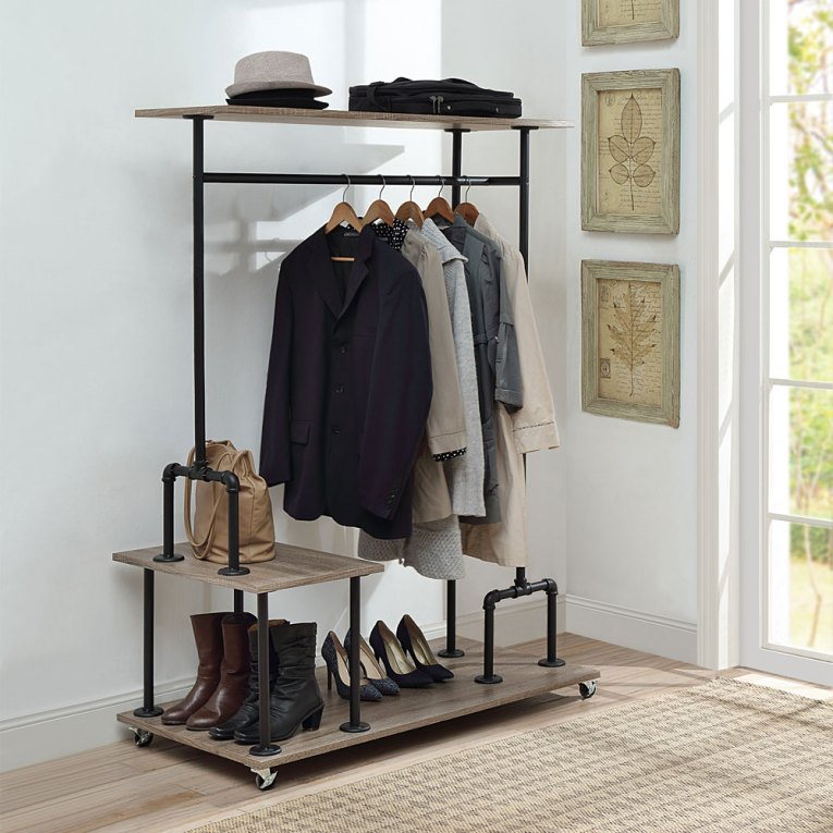 Industiral Pipe Furniture Coat Rack