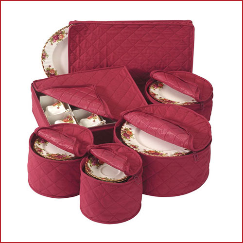 Holiday Dinnerware Storage Set