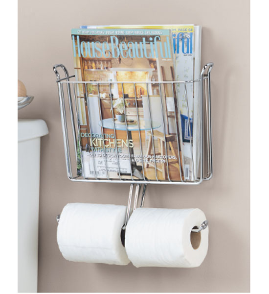Magazine and Toilet Paper Holder in Bathroom Magazine Racks