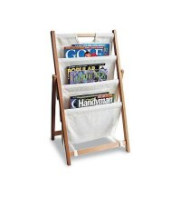 Folding Canvas Magazine Stand in Floor Magazine Racks