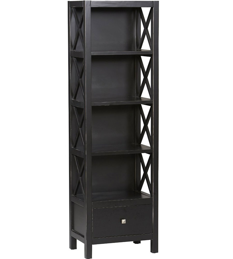 5 Shelf Tower Bookcase In Bookcases