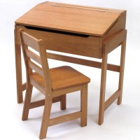 Kids Desk and Chair - Pecan in Kids Desks