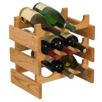 Wood Wine Rack - 9 Bottle in Wine Racks