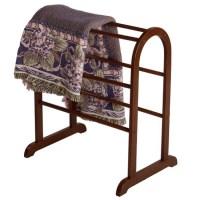 Walnut Quilt and Blanket Rack in Quilt Racks