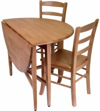 Drop-Leaf Dining Table and Chairs (Set of 3) in Dinette Sets