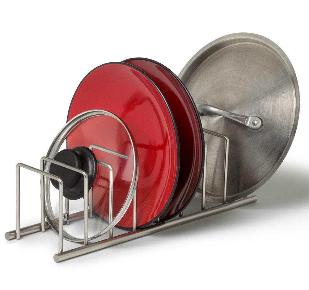 Pot Lid Rack In Cookware Storage