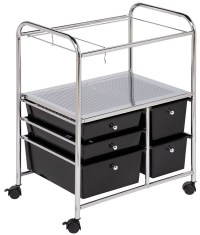 Rolling File Cart - Black in File Cabinets
