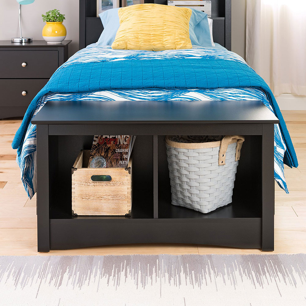 Sonoma Twin Cubby Storage Bench Black In Storage Benches