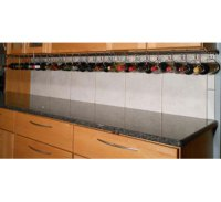Stainless Steel Under Cabinet Wine Rack in Wine Racks