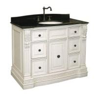 Antique White Vanity Cabinet in Bathroom Vanities