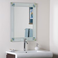 Bejeweled Frameless Bathroom Mirror by Decor Wonderland in ...