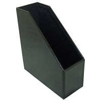 Faux Leather Magazine File Box - Black Croc in Magazine ...