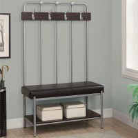 Hallway Bench with Coat Rack in Storage Benches