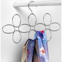 Hanging Scarf Organizer - 10 Ring in Scarf Hangers