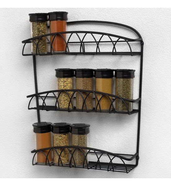 Wall Mounted Spice Rack In Spice Racks