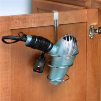Over the Cabinet Blow Dryer Holder in Hair Dryer Holders