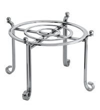 Large Serving Stand and Plate Holder - Chrome in Plate Holders