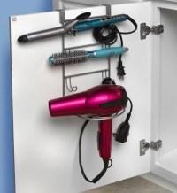 Curling Iron Holder - Over Door in Hair Dryer Holders