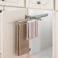 Cabinet Pull-Out Towel Bar - Chrome in Kitchen Towel Holders