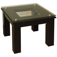 Modern Glass End Table in Accent Tables