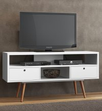 Modern White TV Stand in TV Stands