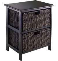 Omaha Storage Rack with Two Baskets in Shelves with Baskets