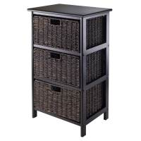Omaha Storage Rack with 3 Baskets by Winsome in Shelves ...