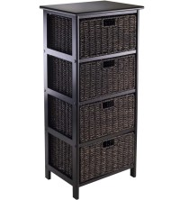 Omaha Storage Rack with 4 Baskets in Shelves with Baskets
