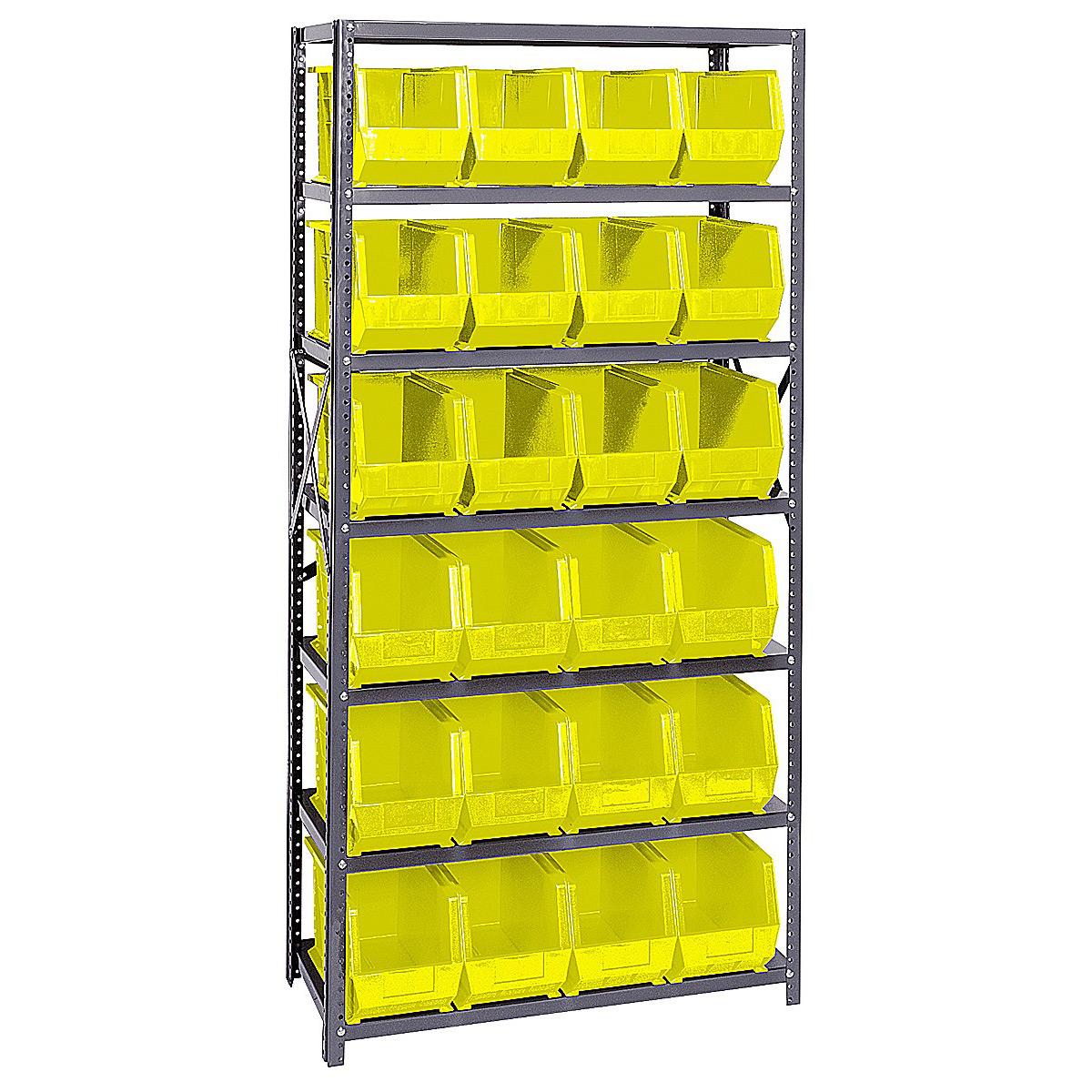 Open Hopper Storage Unit 24 Bins In Plastic Storage Bins