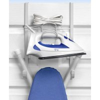 Over the Door Iron and Ironing Board Holder in Iron and