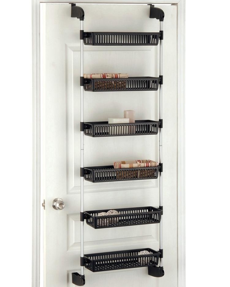 Over The Door Storage Baskets In Wall And Door Storage Racks