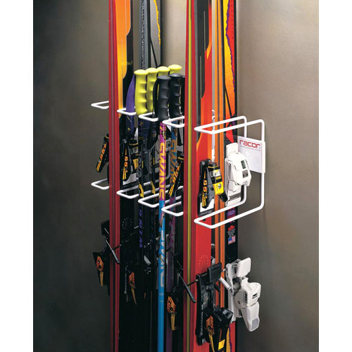 Wall Mount Four Ski Storage Rack In Sports Equipment