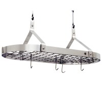 Contemporary Hanging Pot Rack - Stainless Steel in Hanging ...